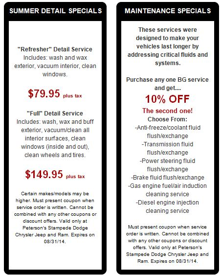 Back To School Service Specials Peterson Dodge Chrysler Jeep Ram Blog
